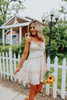 Cross Back Ivory Floral Tiered Dress