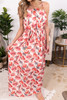 At Sunset Tie Waist Floral Maxi
