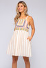 Western Dreams Embroidered Striped Dress