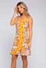 V-Neck Honey Mixed Floral Dress