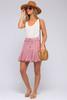 Drawstring Blush Ruffle Skirt