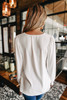 V-Neck Off White Crinkle Blouse  - FINAL SALE