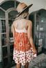 Arizona Sunset Orange Mixed Print Dress
