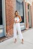 Surplice White Lace Jumpsuit