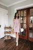 Tie Front Lavender Mauve Halter Dress