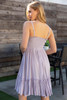 Tie Front Sweetheart Lilac Dress