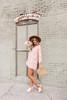 V-Neck Peach Floral Tunic Dress