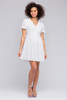 Short Sleeve Button Down White Eyelet Dress