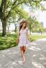 Ruffle Sleeve Mauve Printed Dress