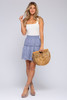 Smocked Waist Periwinkle Eyelet Skirt