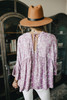 Button Down Lilac Floral Babydoll Top