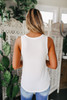 Scoop Neck White Tank