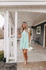Everly Tiered Sage Babydoll Dress