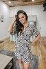 Everly Faux Wrap Leopard Dress