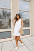 Everly Ruffle Sleeve White Eyelet Dress