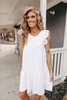 Everly Tiered Ivory Babydoll Dress