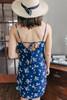 Everly V-Neck Navy Floral Dress
