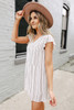 Everly Striped Tiered Babydoll Dress