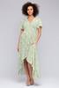 Short Sleeve Sage Floral High Low Dress - FINAL SALE
