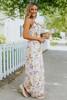 Twist Knot Front Blush Floral Maxi