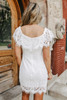 Off the Shoulder Sweetheart White Lace Dress