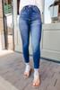 Shaye Dark Wash Pull On Skinny Jeans