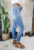 Islander Distressed Medium Wash Skinny Jeans