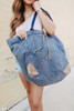 Free People Fremont Reversible Blue Tote
