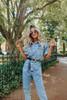 Free People Marci Blue Denim Jumpsuit