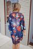 Adrift Navy Floral Kimono