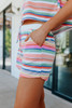 Summer Crush Striped Lounge Shorts