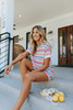 Summer Crush Cuffed Sleeve Striped Pullover