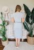 Short Sleeve Grey Striped T-Shirt Midi Dress
