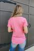 Carefree V-Neck Pocket Pink Tee