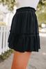 Encore Black Ruffle Hem Skirt