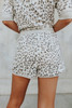 Drawstring Grey Leopard Shorts