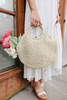 Bohemian Crochet Circle Ivory Handbag