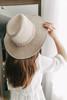 Faux Suede Braided Beige Hat