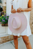 Wandering Heart Belted Mauve Hat