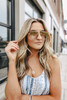 Quay High Key Mini Gold Rimless Sunglasses