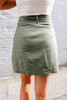 Woven Belted Olive Skirt