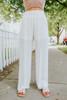 Smocked Waist White Pants