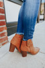 Parker Faux Leather Rust Booties