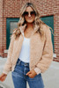 BB Dakota Ready Teddy Go Camel Jacket