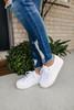 Steve Madden Elore White Platform Sneaker
