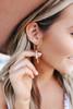 Geometric Charm Gold Hoop Earrings