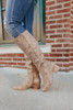 Very G Infinite Taupe Riding Boots