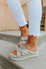 Very G Pam Cream Espadrille Platform Sandals