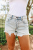 Seafarer Frayed Hem Light Wash Shorts