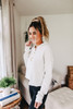 Lace Up Oatmeal Cropped Hoodie